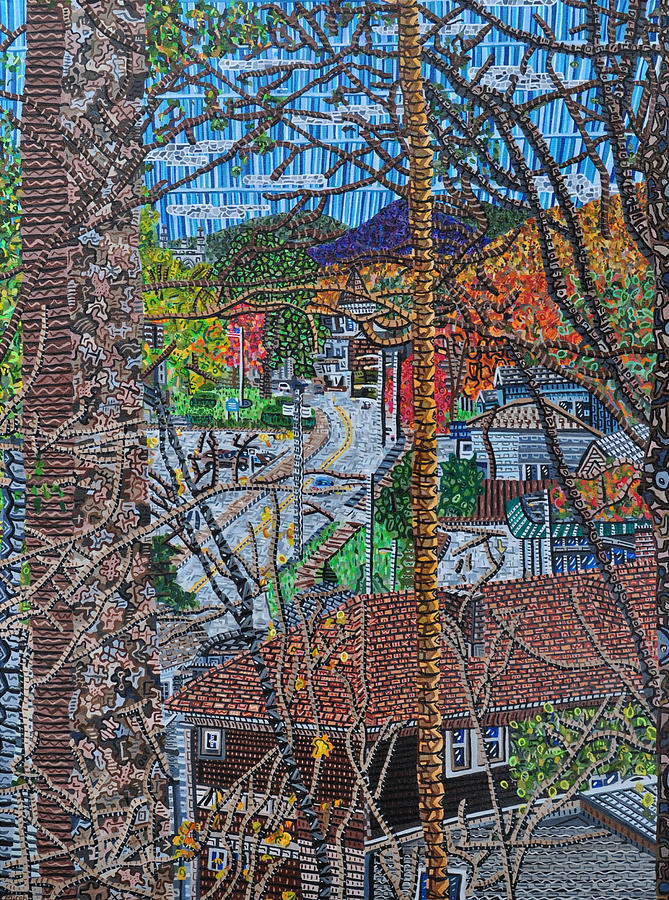 Oneonta Painting - Chestnut Street From Clinton Street by Micah Mullen