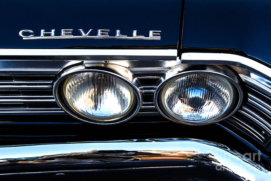 Chevelle Photograph - Chevelle Headlight by Jerry Fornarotto