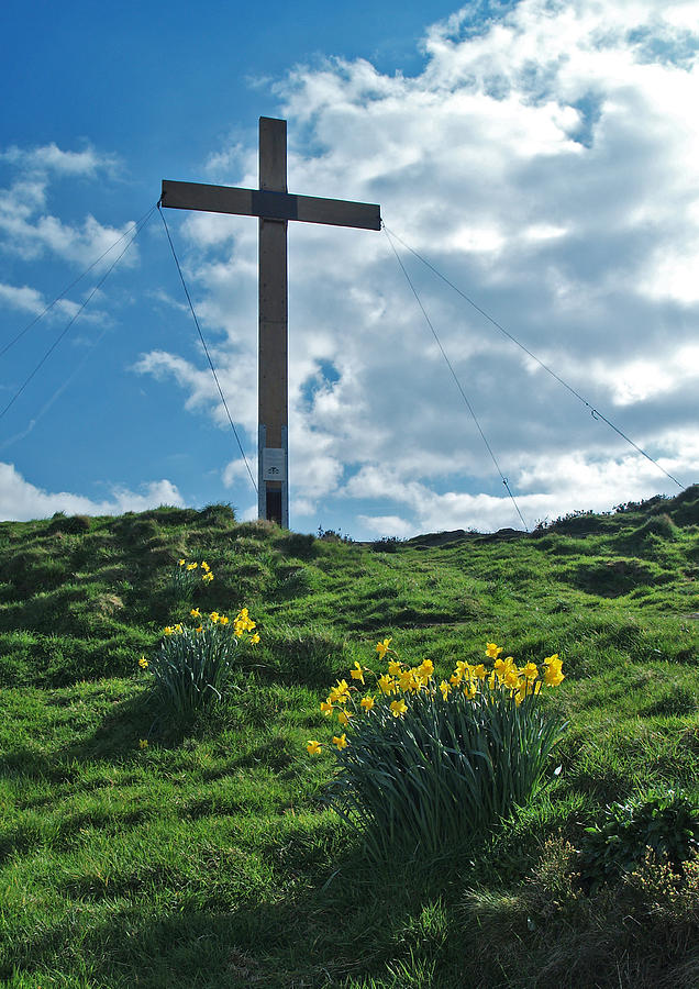 Cross Photograph - Chevin Cross by Steve Watson