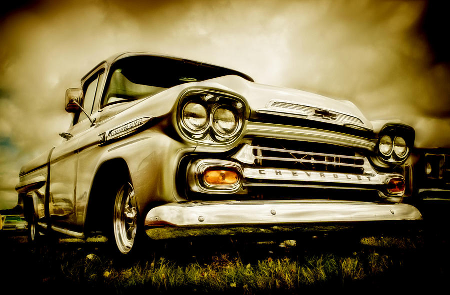 Chevrolet Truck Photograph - Chevrolet Apache Pickup by motography aka Phil Clark