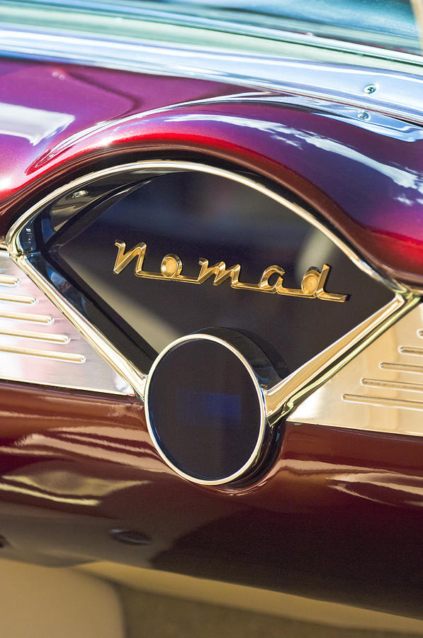 Chevy Photograph - Chevrolet Belair Nomad Dashboard by Jill Reger