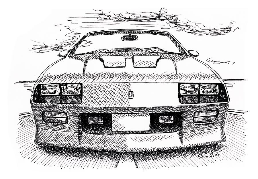 Chevrolet Painting - Chevrolet Caramo Z28 by Milan Surkala