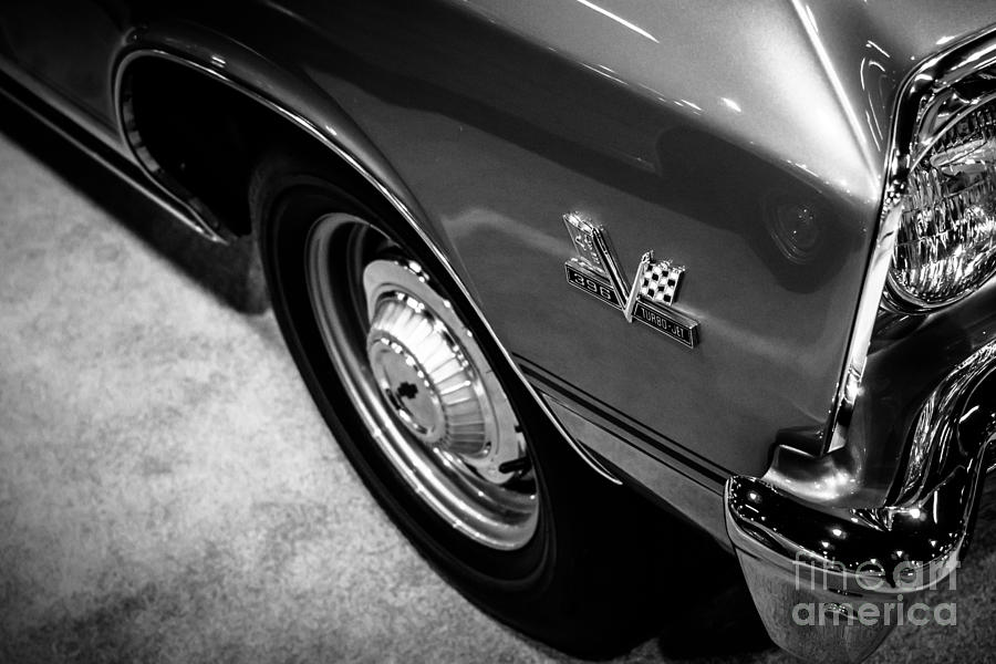 396 Photograph - Chevrolet Chevelle 396 Black And White Picture by Paul Velgos