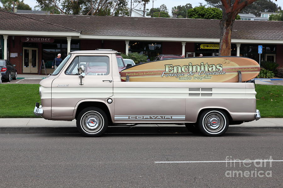 Transportation Photograph - Chevrolet Corvair 95 Open Top Van 5d24225 by Wingsdomain Art and Photography
