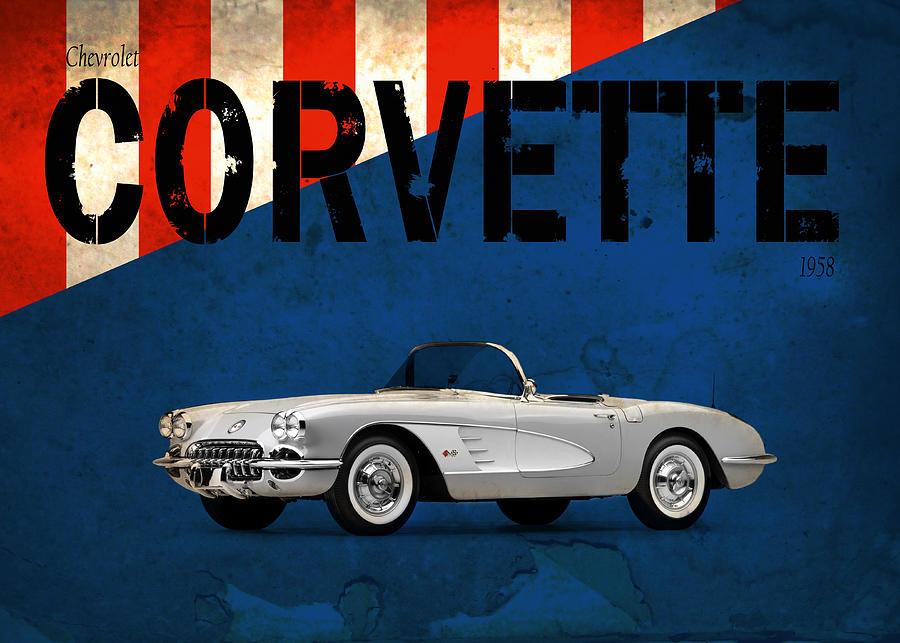 Chevrolet Corvette Photograph - Chevrolet Corvette 1958 by Mark Rogan