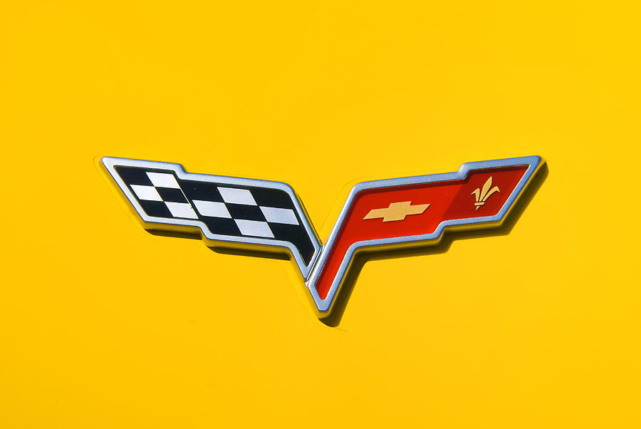 Auckland Photograph - Chevrolet Corvette Flags by Phil motography Clark