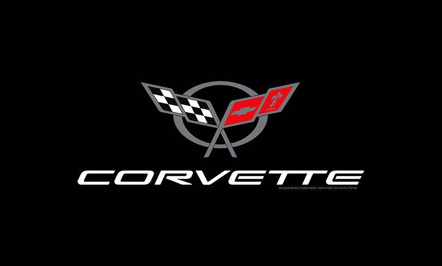 Chevrolet - Corvette Modern Emblem Digital Art by Brand A