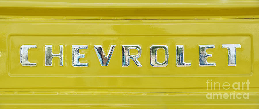 Chevrolet 3100 Photograph - Chevrolet Pickup Tailgate by Tim Gainey