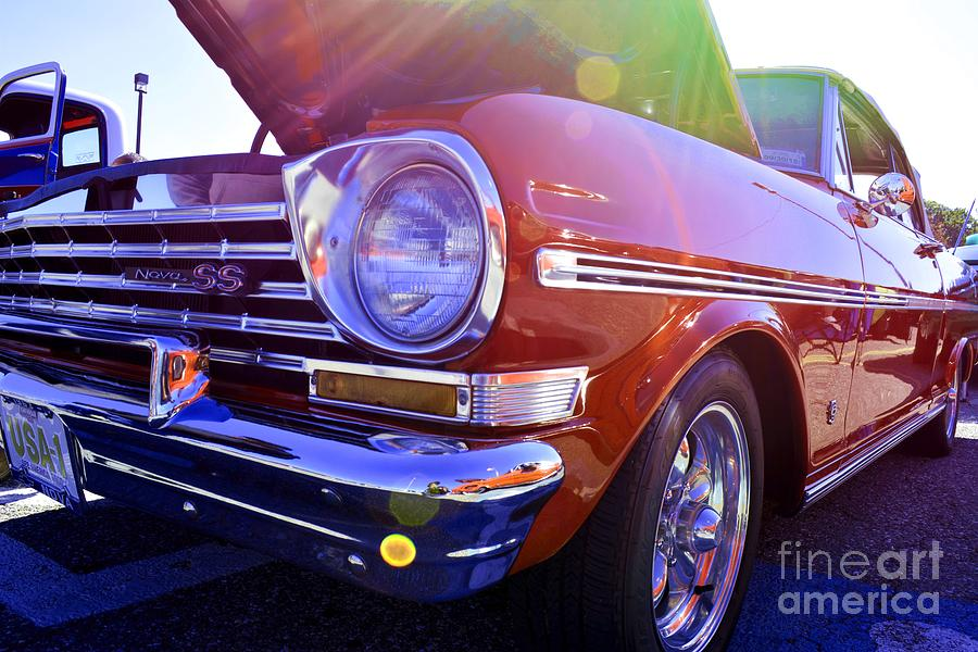 Red Car Photograph - Chevrolet Red by LLaura Burge