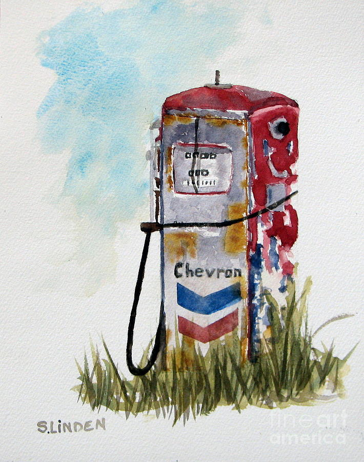 Chevron Painting by Sandy Linden