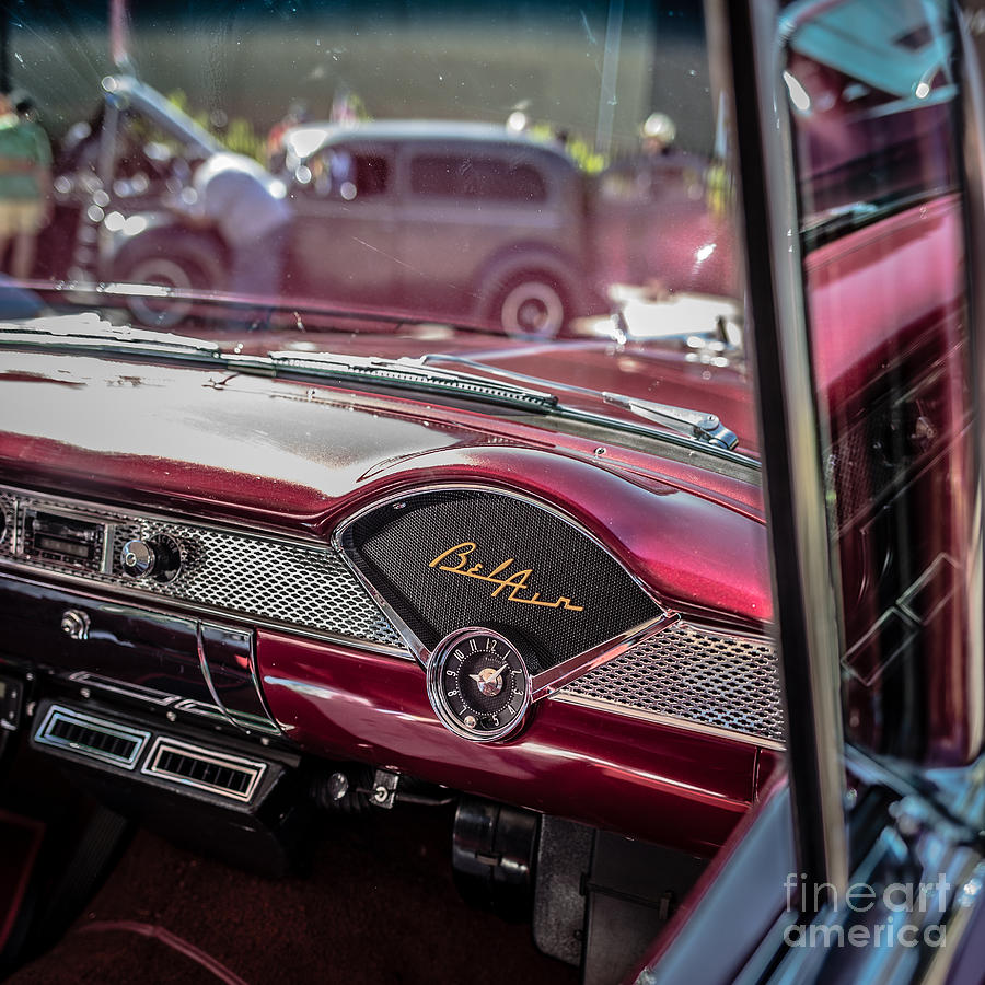 Car Photograph - Chevy Bel Air Dash by Edward Fielding