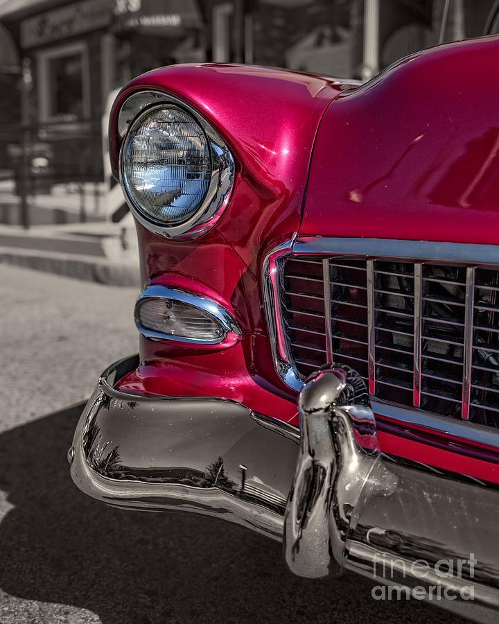 Car Photograph - Chevy Bel Air by Edward Fielding