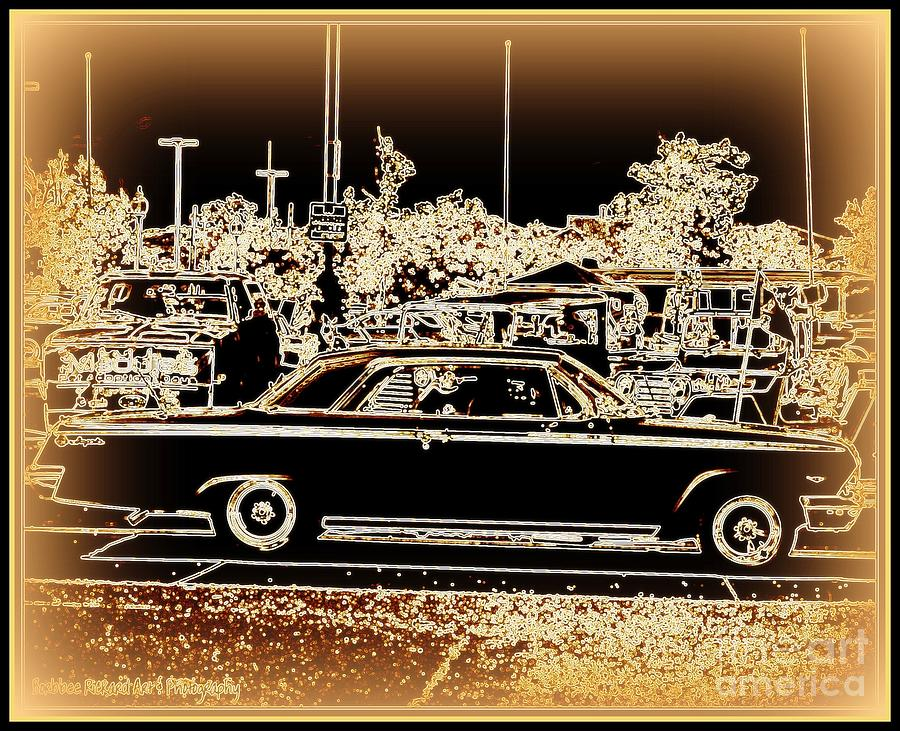 Prints On Canvas Photograph - Chevy Glow by Bobbee Rickard