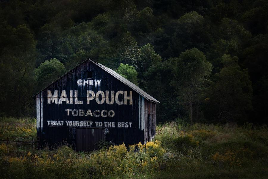 Americana Photograph - Chew Mailpouch by Tom Mc Nemar
