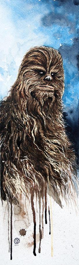 Star Wars Painting - Chewbacca by David Kraig