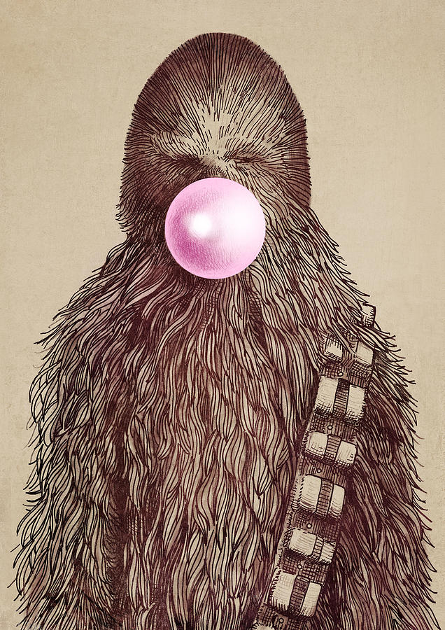 Bubblegum Drawing - Big Chew by Eric Fan