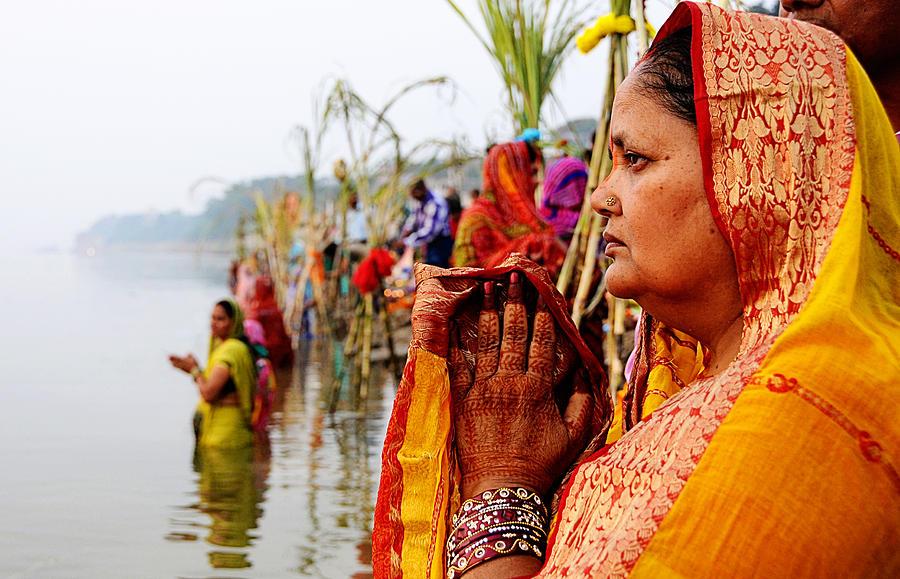 Prayer Photograph - Chhath Prayer by Money Sharma
