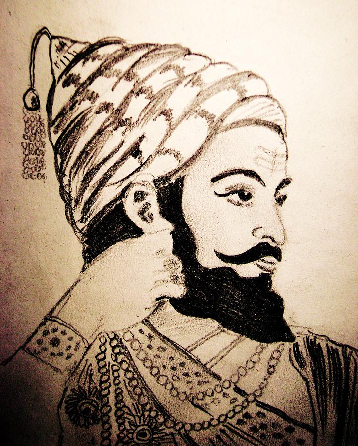 Pencil Sketches Shivaji Maharaj