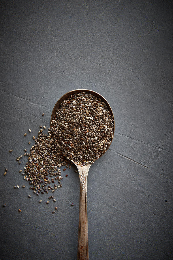 Chia Seeds Photograph by Lew Robertson