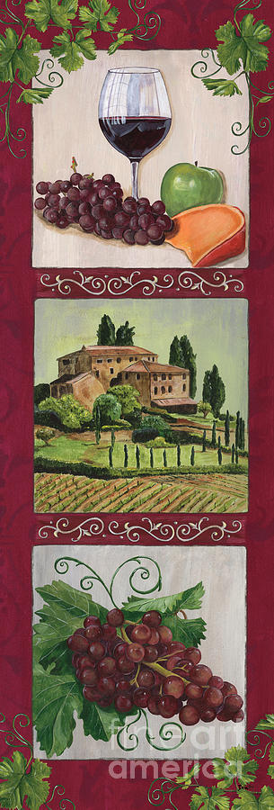 Wine Painting - Chianti and Friends Collage 1 by Debbie DeWitt