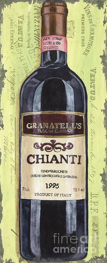 Alcohol Painting - Chianti And Friends Panel 1 by Debbie DeWitt