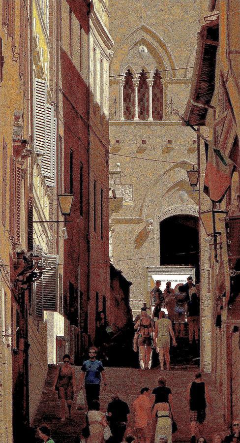 Siena Photograph - Chiaroscuro Siena  by Ira Shander