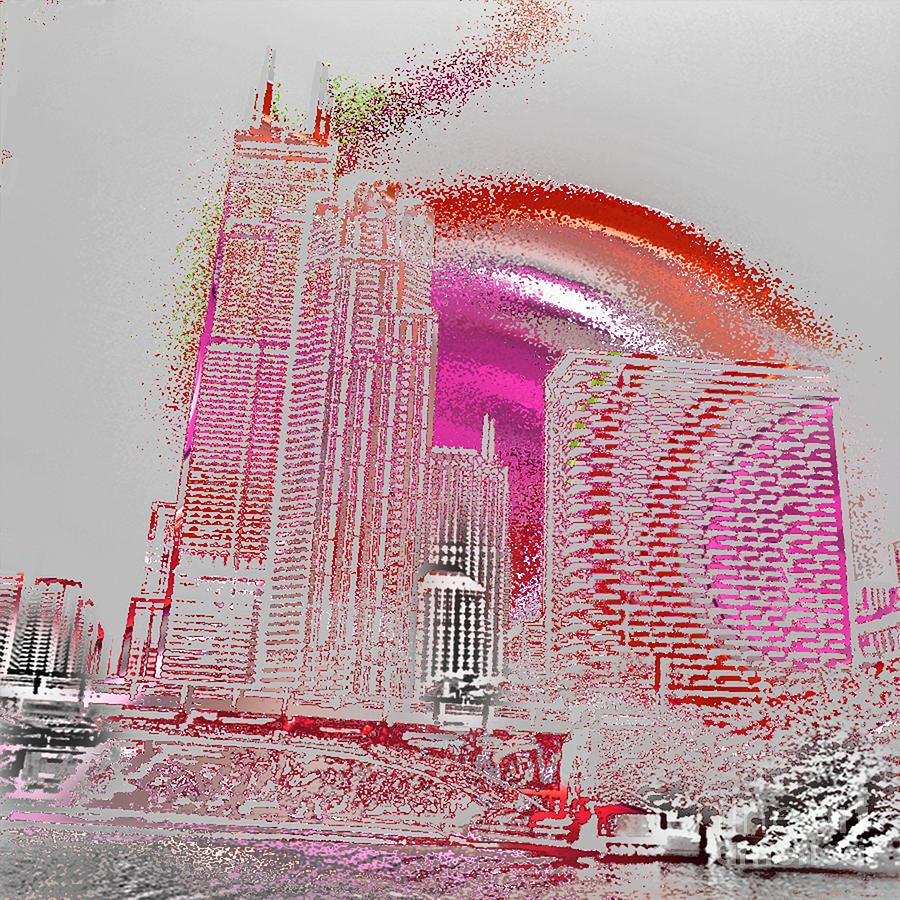 Chicago Digital Art - Chicago 1 by Soumya Bouchachi