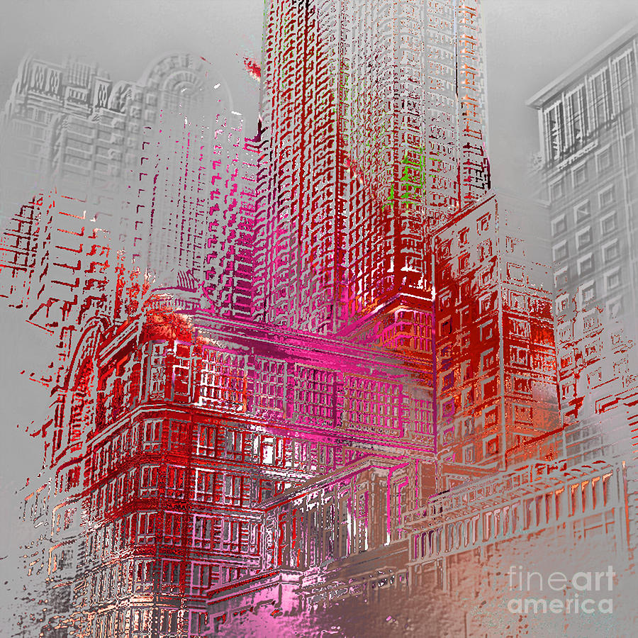 Chicago Digital Art - Chicago 2 by Soumya Bouchachi