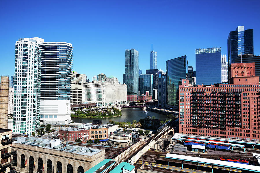 Chicago Architecture And River At Wolf Photograph by Stevegeer