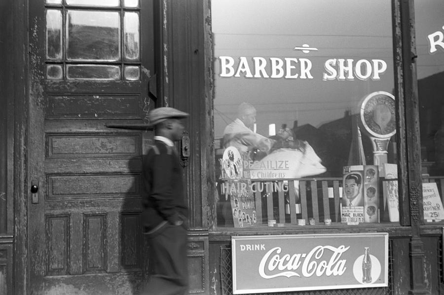 1941 Photograph - Chicago Barber Shop, 1941 by Granger