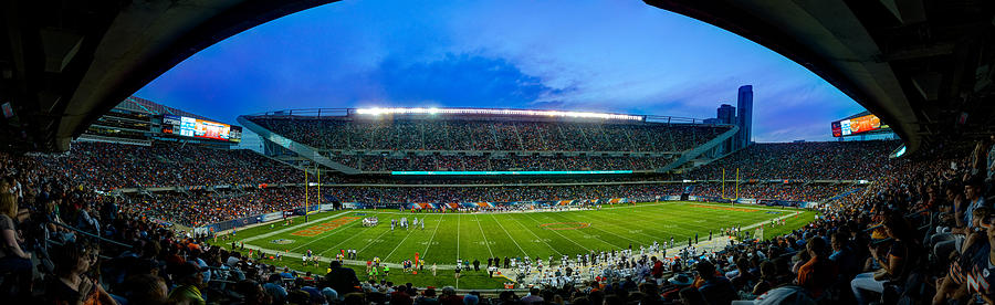 Chicago Bears At Soldier Field Photograph