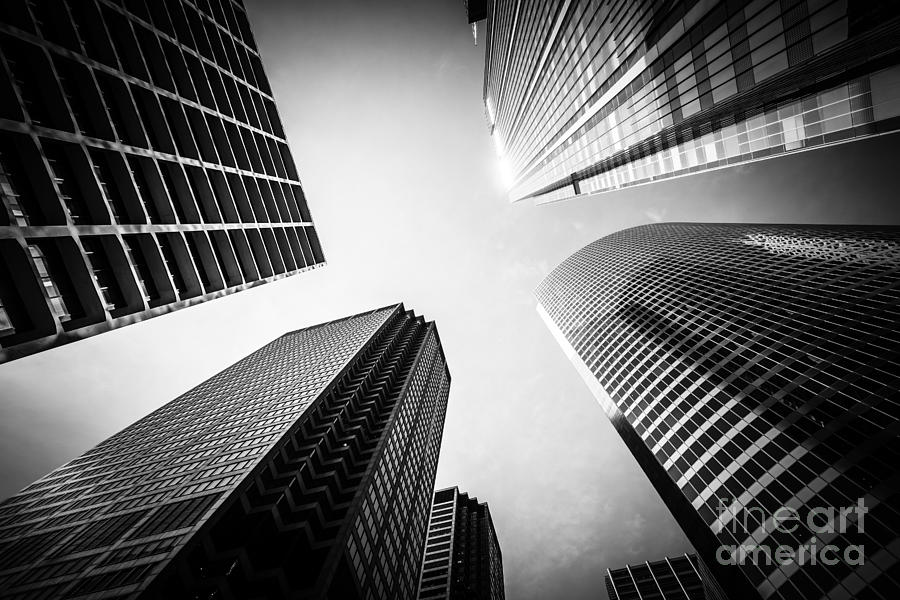 America Photograph - Chicago Black And White Architecture by Paul Velgos