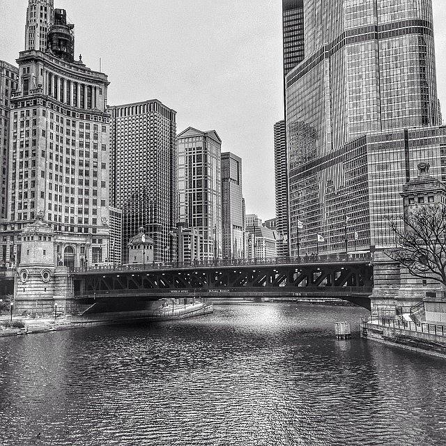 Bridge Photograph - #chicago #blackandwhite #urban by Paul Velgos
