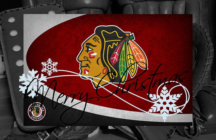 blackhawks photograph chicago blackhawks christmas by joe hamilton - Blackhawks Christmas