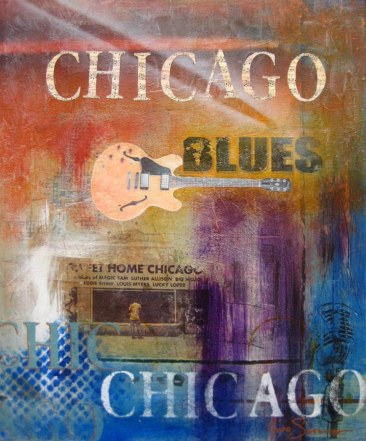 Vibrant Painting - Chicago Blues by Gino Savarino