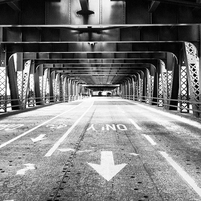 America Photograph - Chicago Wells Street Bridge Picture by Paul Velgos