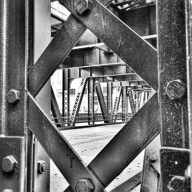 Bridge Photograph - Chicago Bridge Iron In Black And White by Paul Velgos