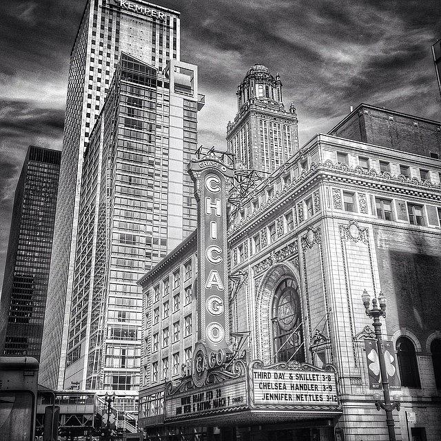 Theater Photograph - #chicago #chicagogram #chicagotheatre by Paul Velgos