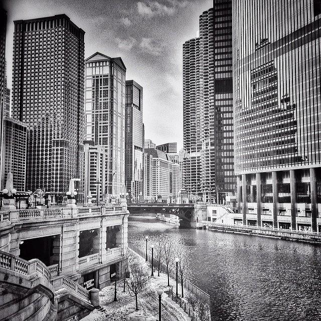 Urban Photograph - #chicago #cityscape #chicagoriver by Paul Velgos