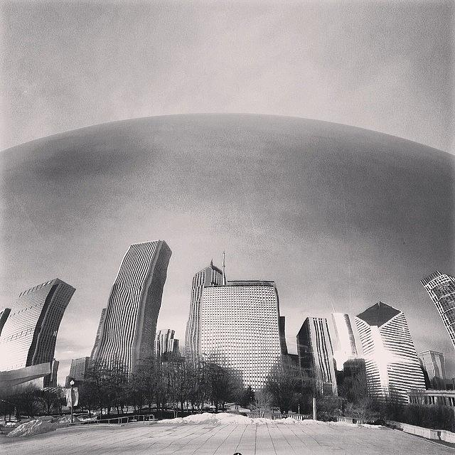 America Photograph - Cloud Gate Chicago Skyline Reflection by Paul Velgos