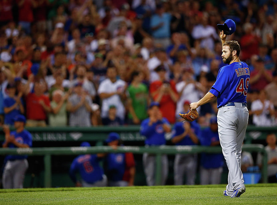 Chicago Cubs V Boston Red Sox Photograph by Jared Wickerham
