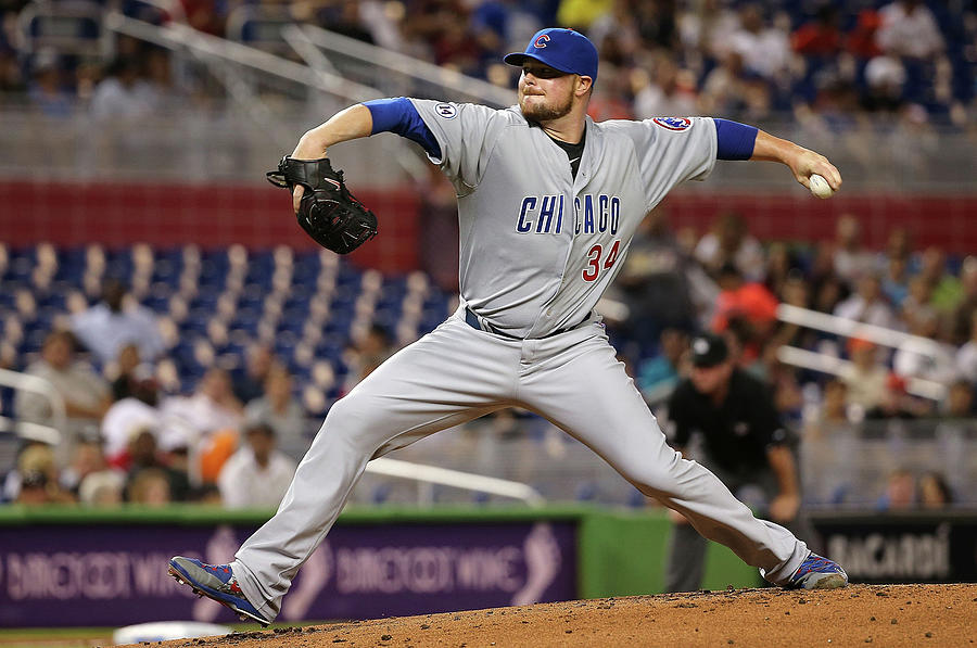 Chicago Cubs V Miami Marlins Photograph by Mike Ehrmann