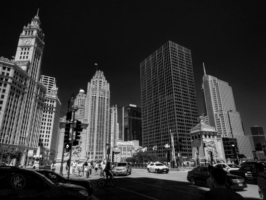 Chicago Photograph - Chicago - E Wacker Drive by Lance Vaughn