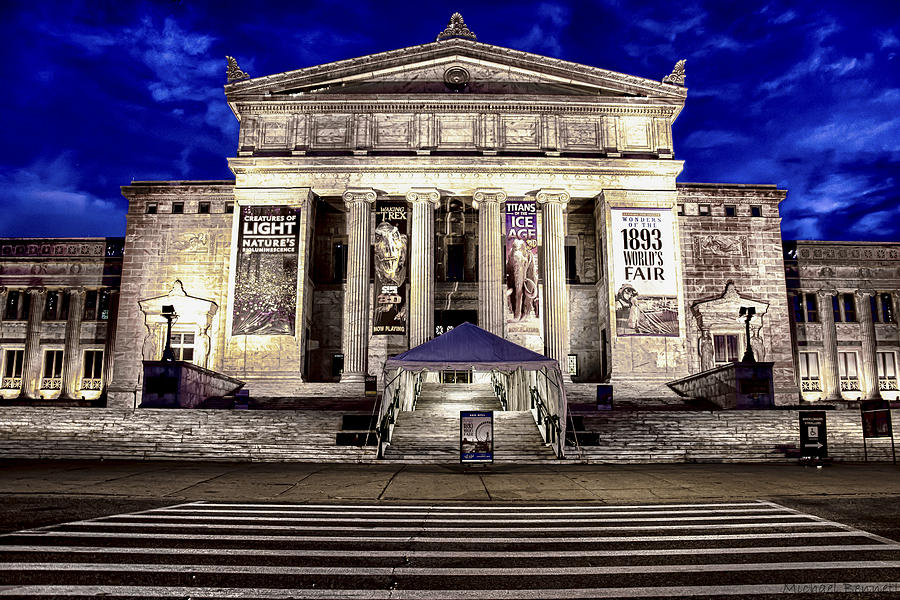 Chicago Photograph - Chicago Field Museum Blue Hour by Michael  Bennett