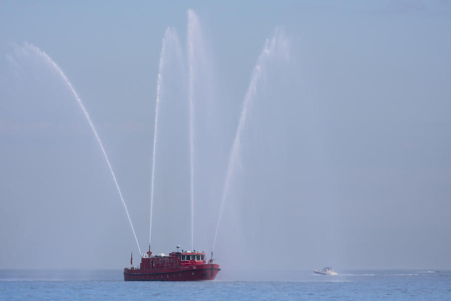 3scape Photos Photograph - Chicago Fireboat by Adam Romanowicz