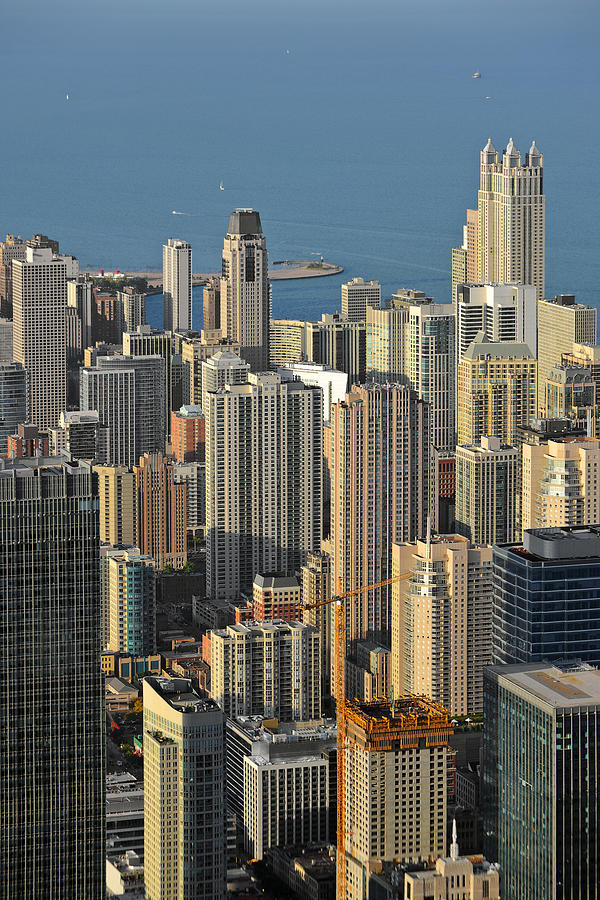 Aerial Photograph - Chicago From Above - What A View by Christine Till
