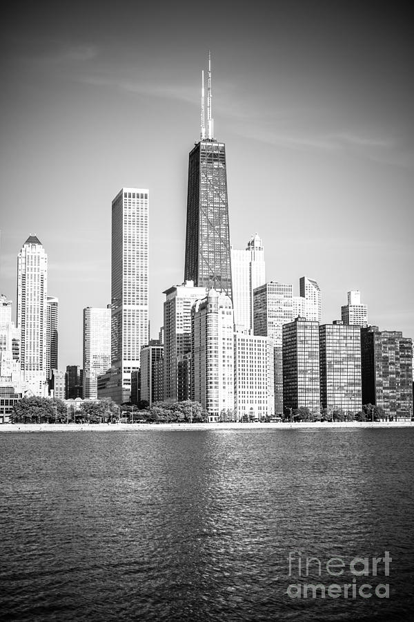 America Photograph - Chicago Hancock Building Black And White Picture by Paul Velgos