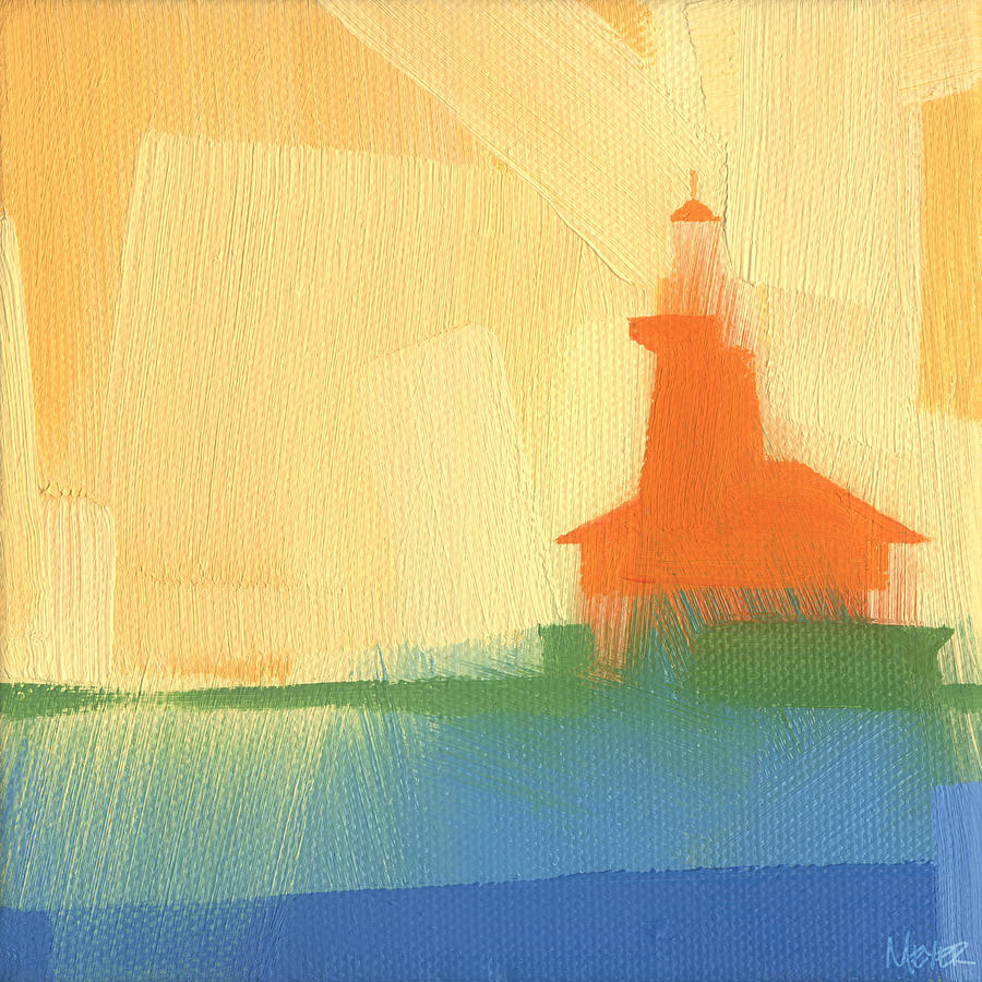 House Painting - Chicago Harbor Light 6 of 100 by W Michael Meyer