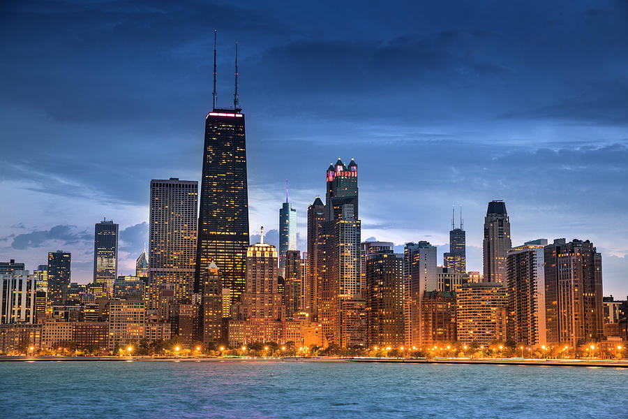 Chicago Illinois Skyline Photograph by Pgiam