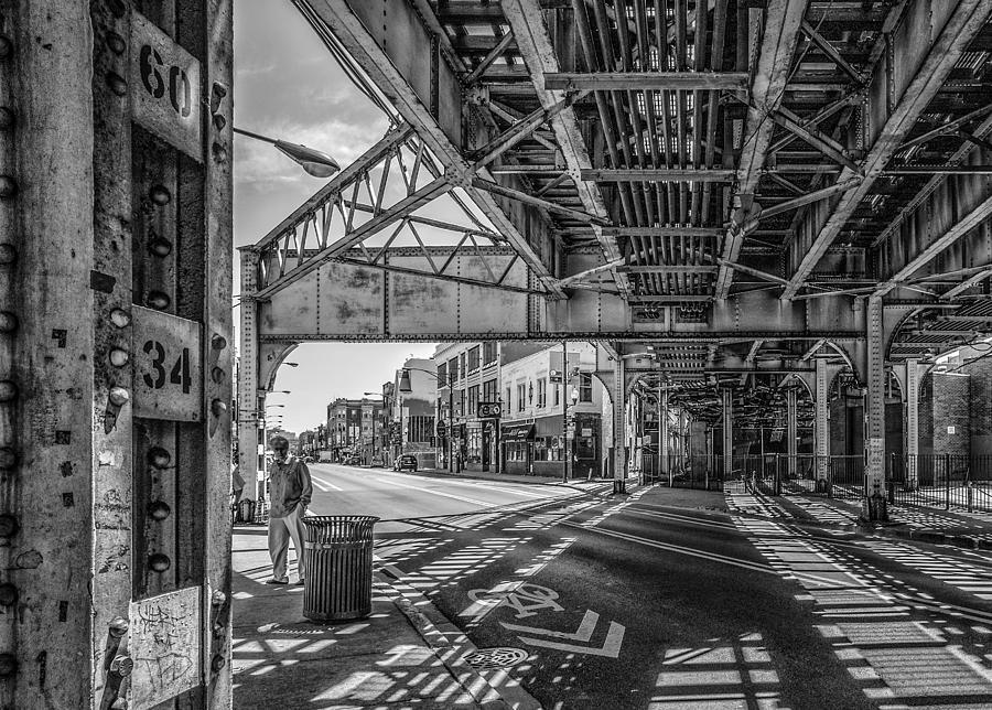 Fotografía de Chicago L at Clark Street por Judith Barath-3269